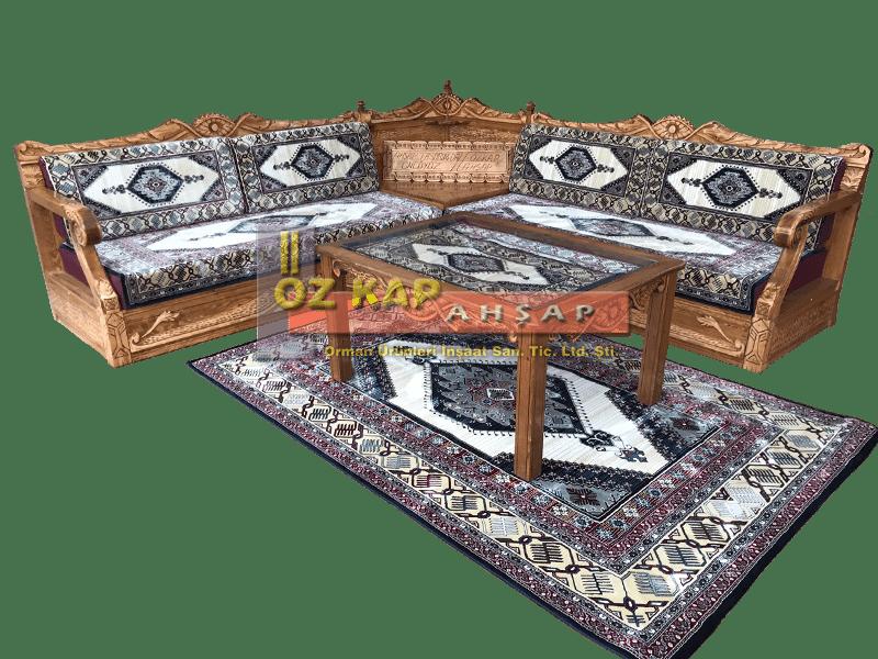 Osmanlı El Oymalı Şark Köşesi Yahyalı Krem